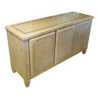 1970s CasaBique Tessellated Fossil Stone Buffet For Sale