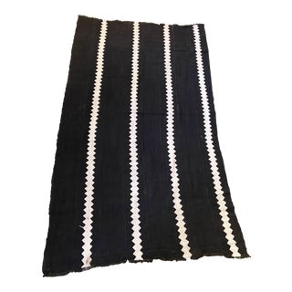 Malian Black & White Mud Cloth Textile For Sale