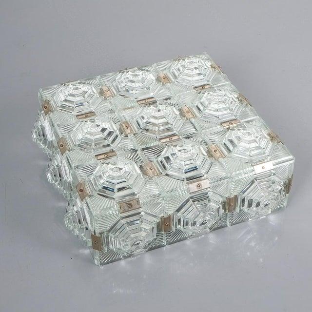 1 of 7 Kamenicky Senov Bohemian Glass Flush Mount Ceiling Lamp, Czechia For Sale - Image 9 of 13