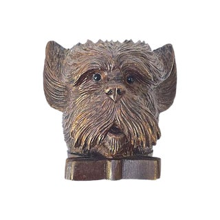 Antique Black Forest Terrier Dish For Sale