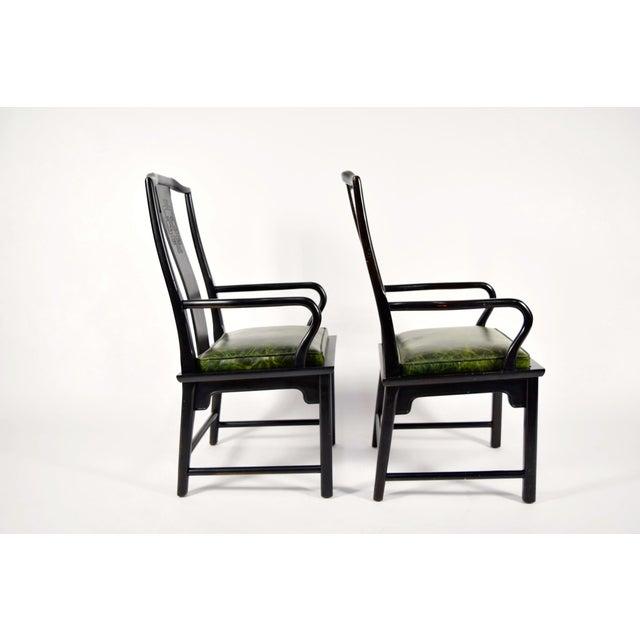 Fine Chin Hua Asian Modern Style Leather Seat Chairs A Pair Spiritservingveterans Wood Chair Design Ideas Spiritservingveteransorg
