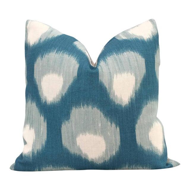 "20"" x 20"" Peter Dunham Peacock Blue Bukhara Decorative Pillow Cover - Image 1 of 4"