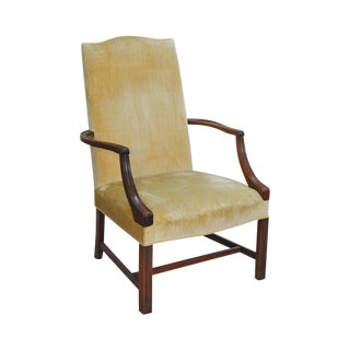 Southwood Chippendale Style Mahogany Library Arm Chair For Sale