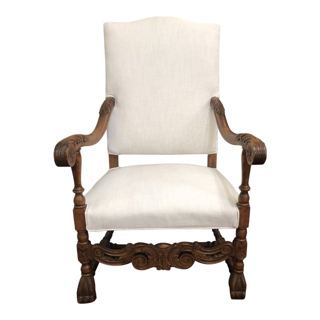 Late 19th Century Antique French Arm Chair For Sale