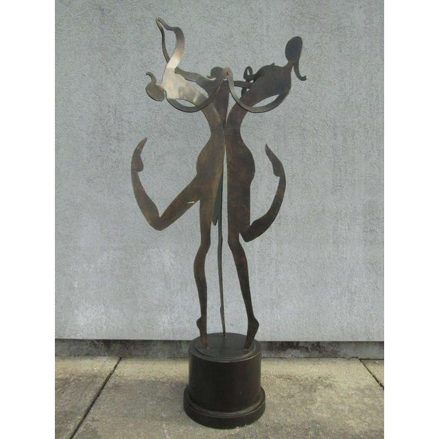 "Large 5'8"" Female Figural Steel Sculpture Bronze Finish For Sale In New York - Image 6 of 6"