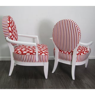 Oval-back Chrome & Upholstered in Chairs- a Pair Preview