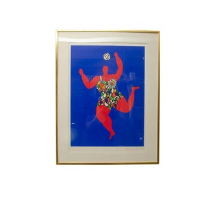 Volleyball Nana Signed Print by Niki De Saint Phalle For Sale