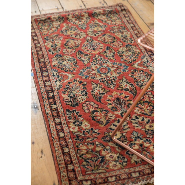 "1930s Vintage American Sarouk Rug Runner - 2'2"" X 4'2"" For Sale - Image 5 of 11"