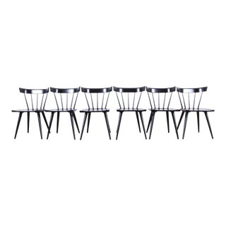 Paul McCobb Planner Group Mid-Century Modern Spindle Back Dining Chairs, Set of Six For Sale