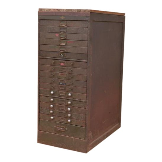1940s Industrial Browne-Morse Filing Cabinet For Sale