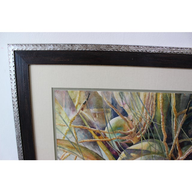 """Vintage Barbara Shipman Watercolor Painting """"Lots of Coconuts"""" For Sale - Image 4 of 13"""