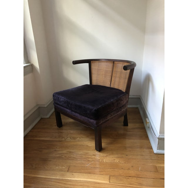 Mid-Century Asian Slipper Chair For Sale - Image 10 of 12