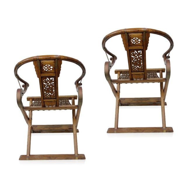 Asian Antique Chinese Qing Dynasty Armchairs - A Pair For Sale - Image 3 of 7