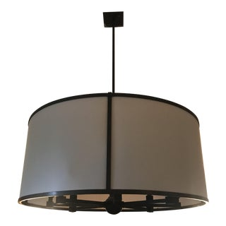 Holly Hunt Style Bronze Drum Chandelier For Sale