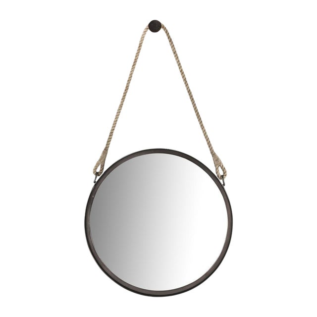 Nautical Round Steel Framed Mirror - Image 1 of 2