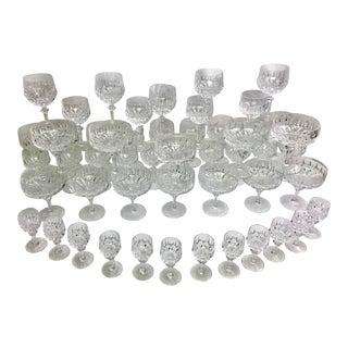 Nachtmann 'Patrizia' Lead Crystal Stemware Glasses - Set of 52 For Sale