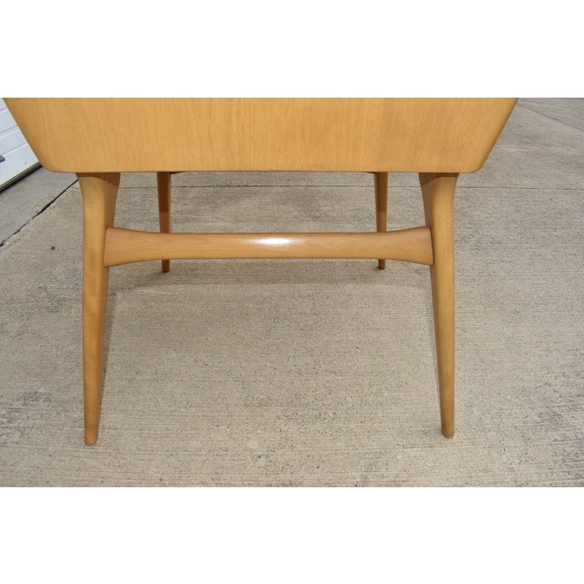 Wood 1950s Mid Century Modern Heywood Wakefield Side Table For Sale - Image 7 of 11