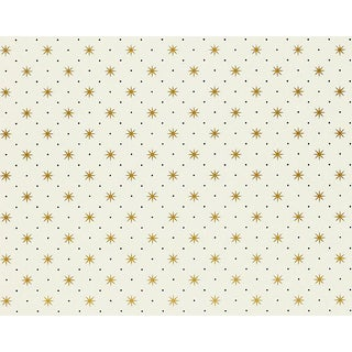 Hinson for the House of Scalamandre Trixie Wallpaper in Gold/black on White For Sale