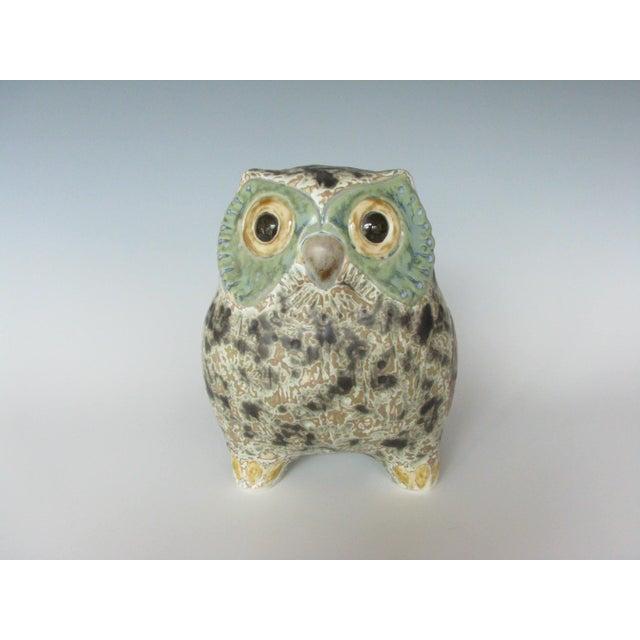 Vintage Lladró Little Eagle Owl Stoneware Figurine Sculpted by Antonio Ballester For Sale - Image 10 of 10
