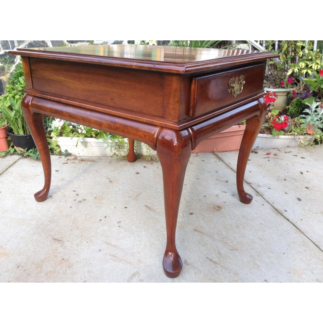 Amish Made Solid Cherry Side Table For Sale - Image 13 of 13