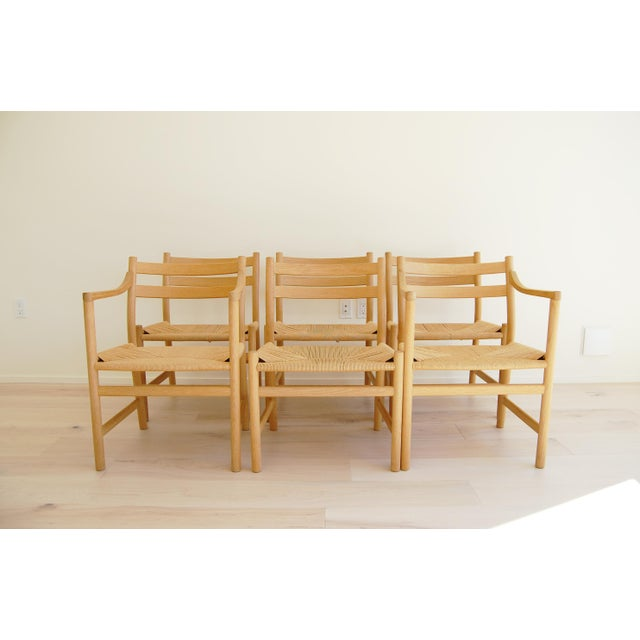 1965 Hans Wegner for Carl Hansen & Son Oak Dining Armchairs - Set of 6 For Sale - Image 13 of 13