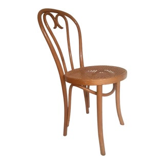 Mid 20th Century Vintage Thonet Bentwood Cane Cafe Bistro Dining Chair For Sale