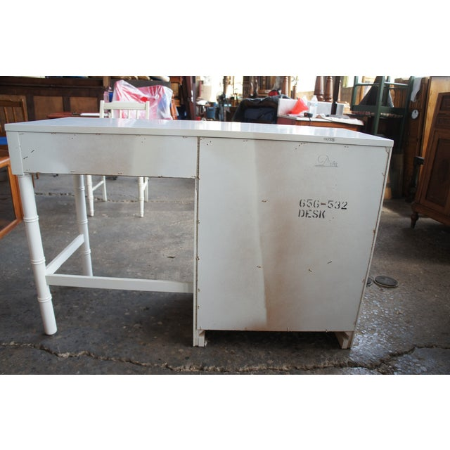Dixie Mid Century Modern Campaign Desk & Chair For Sale - Image 12 of 13