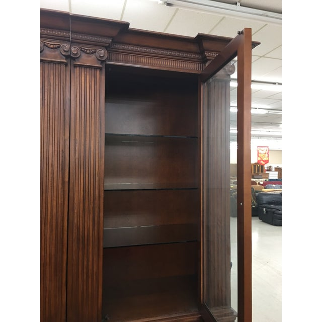 Grand Custom Book Shelves Curio Display Cabinets - a Pair For Sale - Image 4 of 7