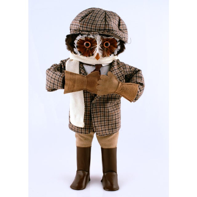 Abercrombie & Fitch Owl Roadster Motorist. Replete with tweed cap/ jacket & suede driving gloves & leather boots c1960s!...