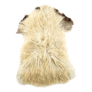 "Contemporary Hand-Tanned Sheepskin Pelt - 2'0""x3'0"" For Sale"