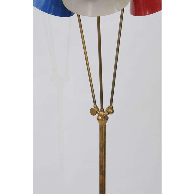 Stilnovo Italian Three-Light Floor Lamp For Sale - Image 9 of 9