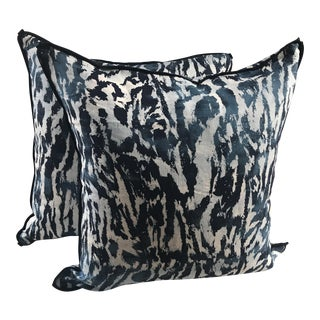 "Schumacher ""Feline"" Celerie Kemble Pillows - a Pair"