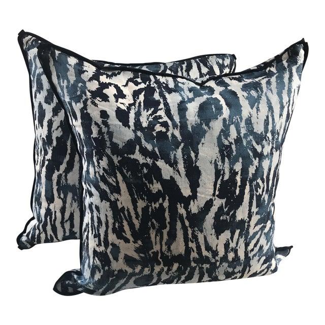 """Schumacher """"Feline"""" Celerie Kemble Pillows - a Pair For Sale"""