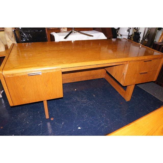 Mid-Century Modern Executive Desk and Credenza - Image 6 of 7