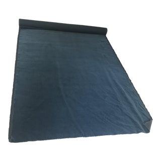 Designer Hague Blue 100% Mohair Fabric For Sale