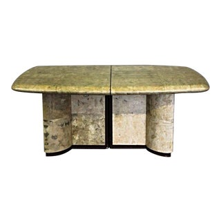 Karl Springer Faux Goatskin Dining Table For Sale