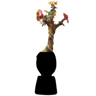 "Handblown Glass Tree Head ""Fall"" Sculpture For Sale"