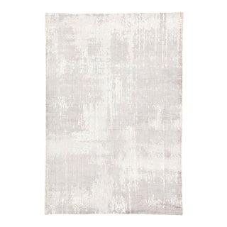 Jaipur Living Arabella Handmade Abstract Light Gray White Area Rug 5'X8' For Sale