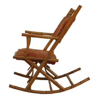 French Victorian Bamboo Rocking Chair For Sale