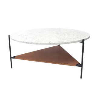 Marble & Leather Coffee Table