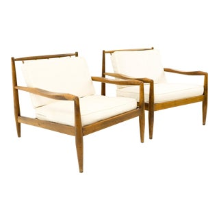 Vintage Mid Century Adrian Pearsall for Craft Associates Model 843-C Lounge Chairs- A Pair For Sale