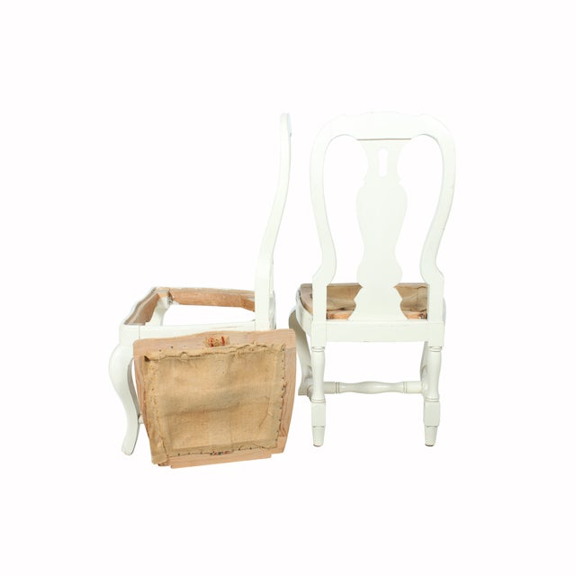 French Country Farm Chairs - A Pair - Image 2 of 3