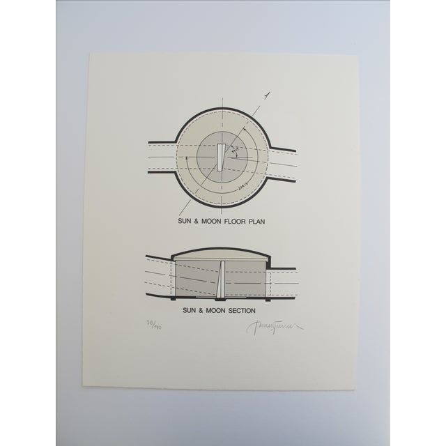 'Sun & Moon Section & Floorplan' Lithograph - Image 2 of 3