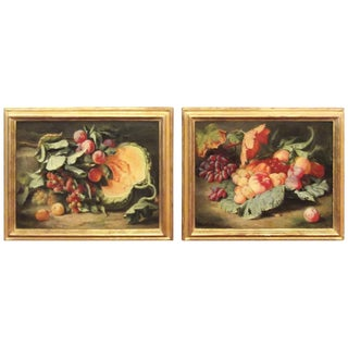 Mid 19th Century Antique Dutch Master Style Still Life Oil Paintings - A Pair For Sale