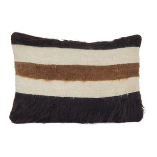 Pillow Case Fashioned From a Mid-20th Century Anatolian Angora Siirt Blanket 14'' X 20'' For Sale