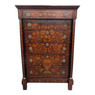 Antique 18thC Inlaid Highboy For Sale