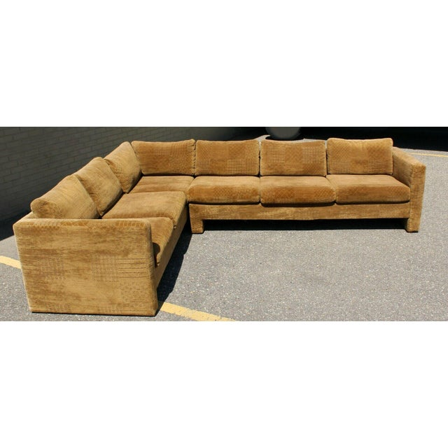 1970s Mid Century Modern Danish Selig 2 Piece Sectional For Sale - Image 5 of 8