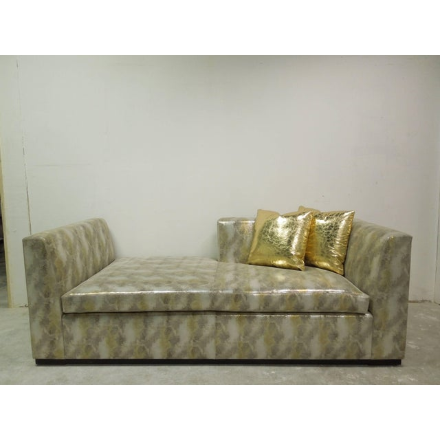 A spectacular, glamorous, high end, piece of one of a kind furniture! Custom-made sofa made in most expensive designer...