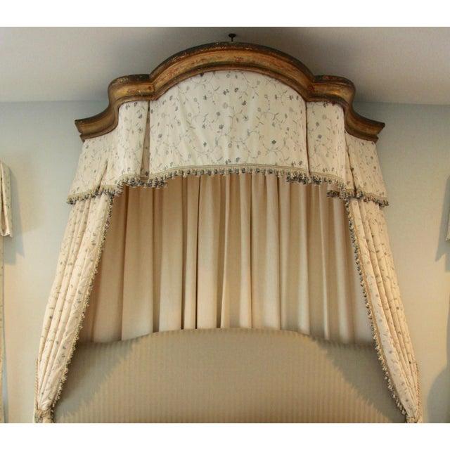 Italian Giltwood Bed Corona W/ Draperies For Sale - Image 12 of 12