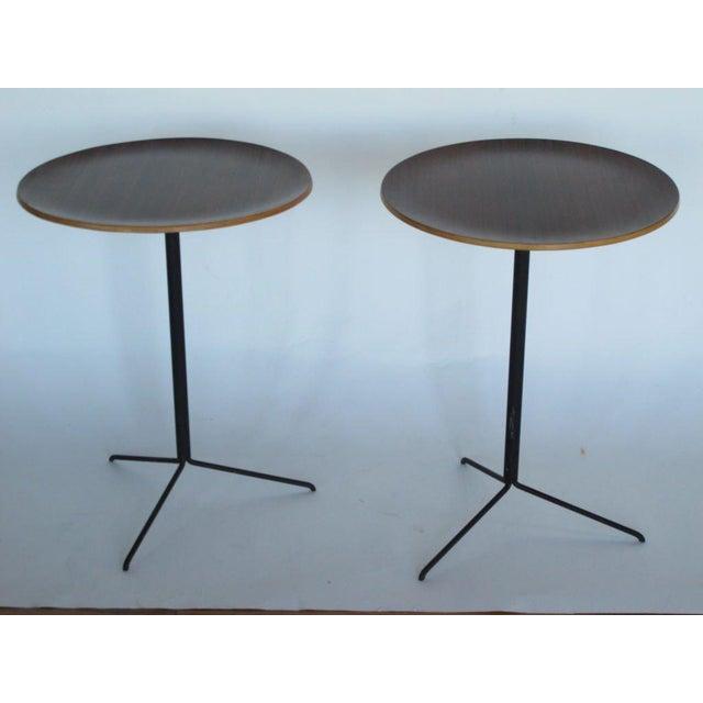 Black 1950s Mid-Century Modern Osvaldo Borsani for Tecno Occasional Tables - a Pair For Sale - Image 8 of 9